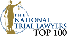 Logo Recognizing Brooks & Crowley LLP's affiliation with National Trial Lawyers Top 100